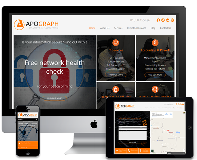website design case study - apograph