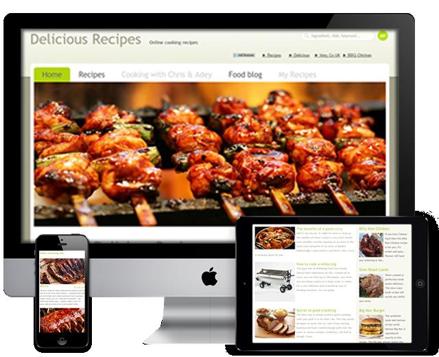 delicious recipes website project